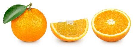 Photo pour Fruits oranges isolés sur fond blanc. Fruits orange - image libre de droit