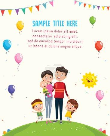 Illustration pour Illustration vectorielle d'une famille heureuse - image libre de droit