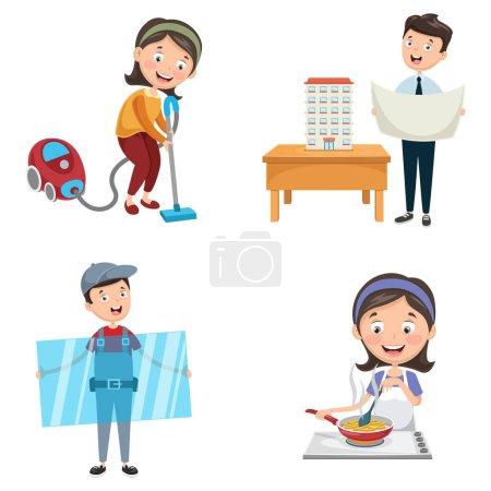 Illustration pour Illustration vectorielle des professions - image libre de droit