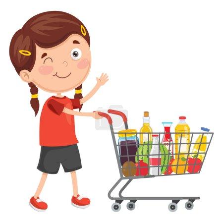 Illustration pour Illustration vectorielle du shopping - image libre de droit
