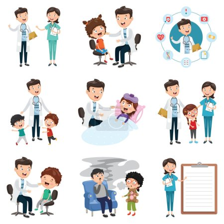 Illustration for Vector Illustration  Set Of Medical And Healthcare - Royalty Free Image