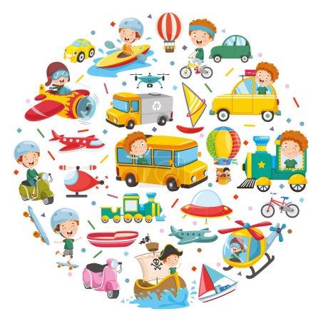 Photo pour Illustration vectorielle de la conception du concept des véhicules - image libre de droit