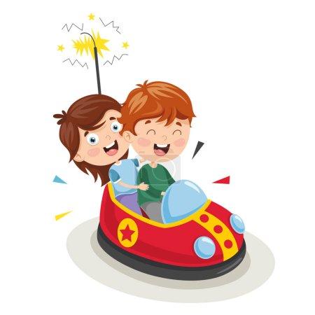 Vector Illustration Of Amusement Park