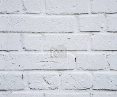 Photo for White brick wall for texture or background. Clear white brick wall texture - Royalty Free Image