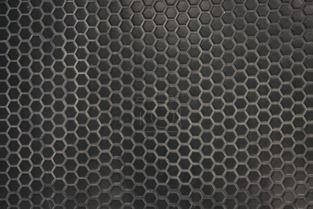 Photo for Interior Design Hexagon Marble black Tile. - Royalty Free Image