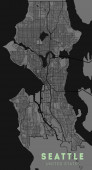 Seattle USA City Map in Retro Style Outline Map Vector Illustration