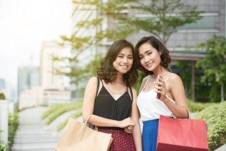 Photo for Portrait of beautiful young Vietnamese women smiling and looking at camera - Royalty Free Image