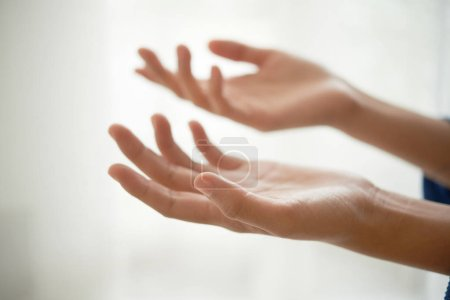 Photo for Hands of person begging for help or money - Royalty Free Image