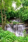 Beautiful waterfall is name Hua mae kamin waterfall in Erawan Na
