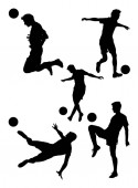 Soccer player detail silhouette 02 Good use for symbol logo web icon mascot sign or any design you want