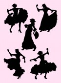 Woman dancing flamenco silhouette 03 Good use for symbol logo web icon mascot sign or any design you want