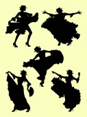 Woman dancing flamenco silhouette 02 Good use for symbol logo web icon mascot sign or any design you want
