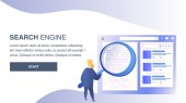 Search Engine Website Flat Vector Color Template