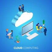 Cloud Computing Square Banner Database Service