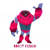 New Generation Robot Design Vector Illustration