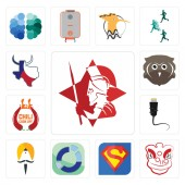 Set Of 13 simple editable icons such as spartan lion dance s sector sikh ethernet chili cook off free owl made in texas can be used for mobile web UI