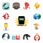 Set Of 13 simple editable icons such as welding chili cook off mamba good bad free detective hoopoe yard sale brain spartan can be used for mobile web UI