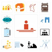 Set Of 13 simple editable icons such as hospitality telecom hiker request a quote customer experience number of players order form join us 360 degree can be used for mobile web UI
