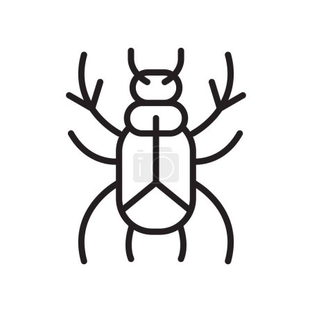 Illustration for Beetle icon vector isolated on white background for your web and mobile app design, Beetle logo concept - Royalty Free Image