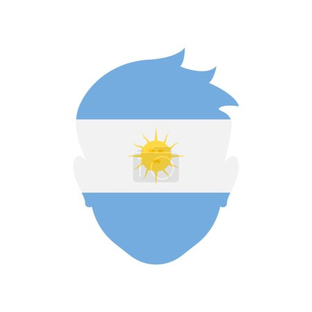 Illustration for Argentina icon vector isolated on white background for your web and mobile app design, Argentina logo concept - Royalty Free Image