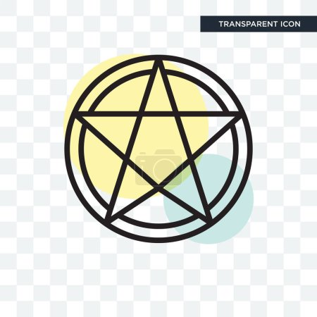 Paganism vector icon isolated on transparent backg...