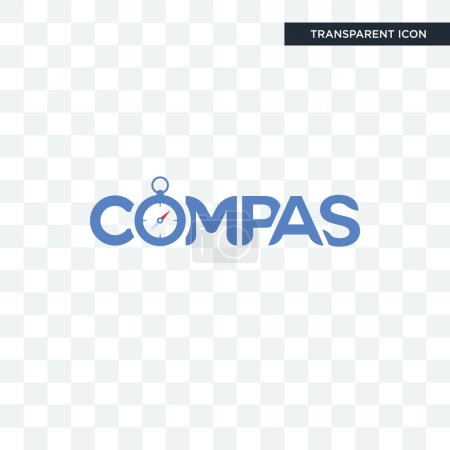 compas vector icon isolated on transparent background, compas lo