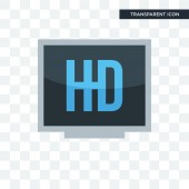 hi def vector icon isolated on transparent background hi def lo
