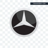 mercedes vector icon isolated on transparent background mercede