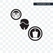 Politician vector icon isolated on transparent background Polit