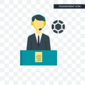 Commentator vector icon isolated on transparent background Comm
