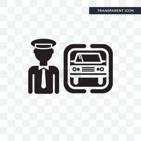 Illustration pour Icône vectorielle Chauffeur isolée sur fond transparent, concept logo Chauffeur - image libre de droit