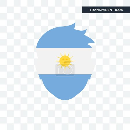 Illustration for Argentina vector icon isolated on transparent background, Argentina logo concept - Royalty Free Image