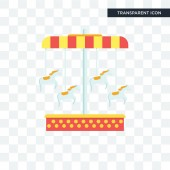 Carousel vector icon isolated on transparent background Carouse