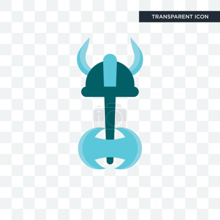 Viking vector icon isolated on transparent backgro...