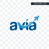 avia vector icon isolated on transparent background avia logo d