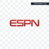 espn vector icon isolated on transparent background espn logo d
