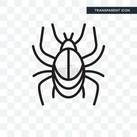 Illustration for Beetle vector icon isolated on transparent background, Beetle logo concept - Royalty Free Image