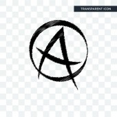 punk anarchy vector icon isolated on transparent background pun