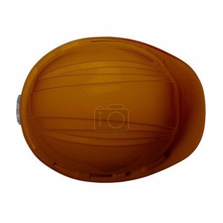 Brown helmet isolate on white background with clipping path top view, Brown hat for welders and workers with high heat application.