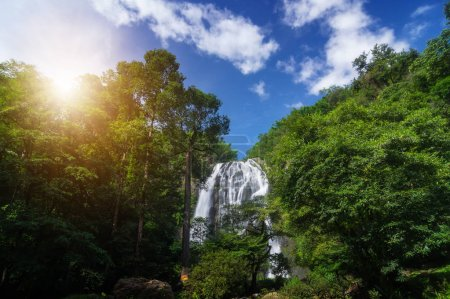Khlong Lan Waterfall was the last major waterfall Khlong Lan National Park, Kamphaeng Phet Thailand.
