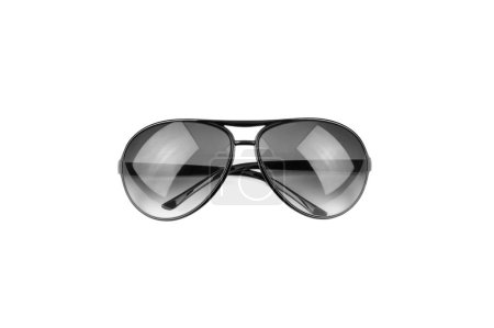 Black sunglasses on white background, For protect sunlight and fashion.