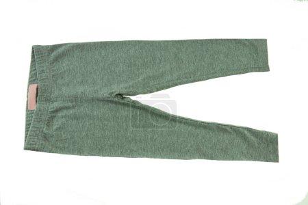 Grey leggings for girl isolated on white. Fashion children.