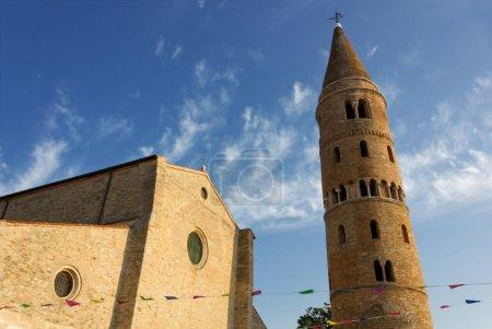 Romanesque Duomo of Caorle, Italy, and its peculiar bell tower