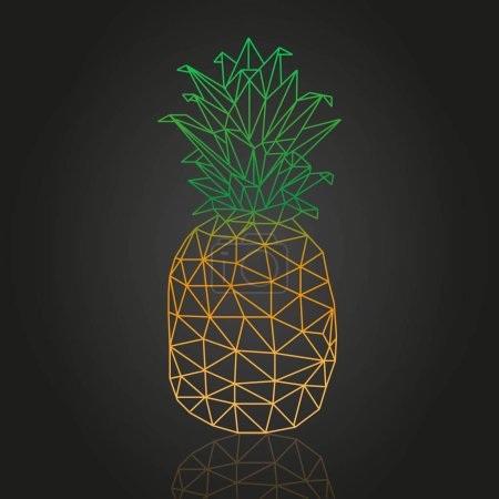 Illustration for Isometric abstract pineapple vector design - Royalty Free Image