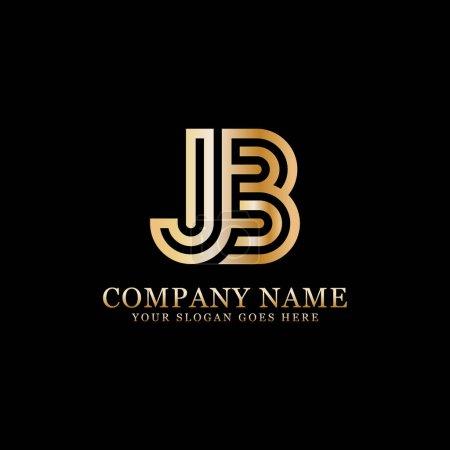 Illustration pour Logo monogramme Jb inspirations, modèle de logo lettres, conceptions propres et créatives - image libre de droit