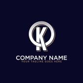 O K initial logo vector O letter logo inspirations