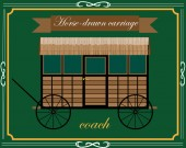 wooden horse carriage