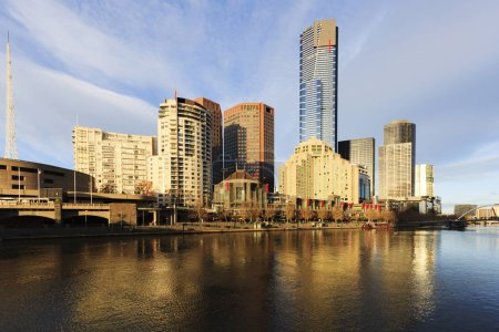 Photo for Melbourne, Australia, the skyline with beautiful early morning light. - Royalty Free Image
