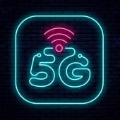 Vector neon sign 5G network