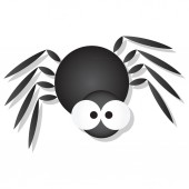 Cute Spider with big googly eyes cartoon vector illustration